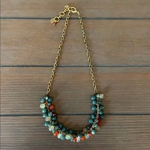 Vintage Lucky Brand Jade & Mixed Stones Necklace.